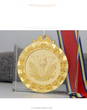 RU81120 2D Zinc Alloy Metal Souvenir Award Sport Medal with Ribbon