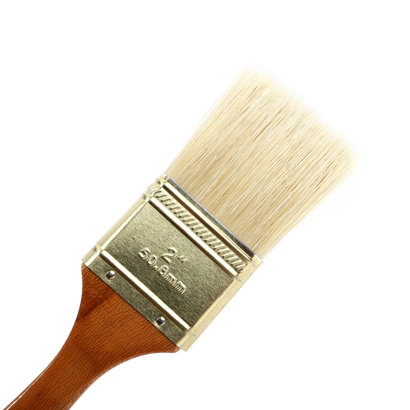Mixture Bristle Paint Brush with Painting Wood Handle
