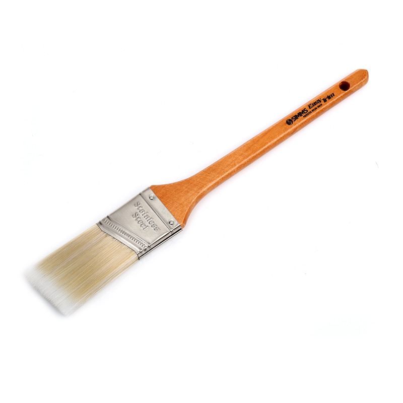 Professional Stiff Nylon/poly Brush Wooden Handle Angle Paint Brush