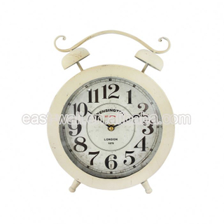 Hot Sale Low Price French Country Tuscan Style Analog Desk Clock With Card Holder