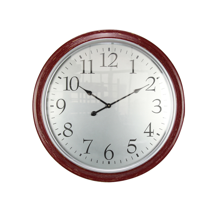 Cheap Restaurant Simple and Accurate Retro Round Wall Clock