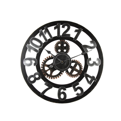 Decorative Classical Iron Handmade Home Decorate Wall Digital Wall Big Size Iron Decorative Clock