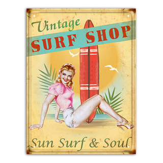 Beautiful Girl Decor Vintage Metal Tin Poster Popular Cafe Bar Home Wall Office Wall Plaques