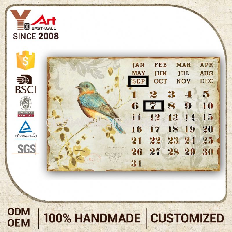 Direct Price Humanized Design Calendar Decorative Tree Wall Plaques Art And Craft For Children