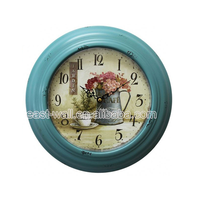 Good Quality Reasonable Price Customized Logo Watch Wrought Iron Standing Clock