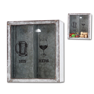 Beer Cap Storage Box Wine Cork Collector Box with Hole