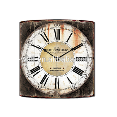 2016 New Coming Oil Painting Design Home Decoration Antique Style Wall Clock