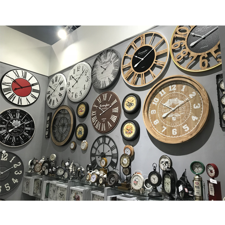 Custom Comfortable Design Home Decoration Vintage Metal Wall Clock