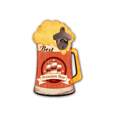 Promotion High Quality Beer Mug Customized Appearance Coke Bottle Opener
