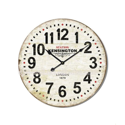 Quick Lead Antique Style Recycled Material Custom Made Wall Clock