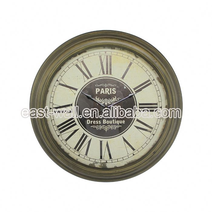 Customize Antique Style Metal Clock Time Zones Small Clocks For Craft
