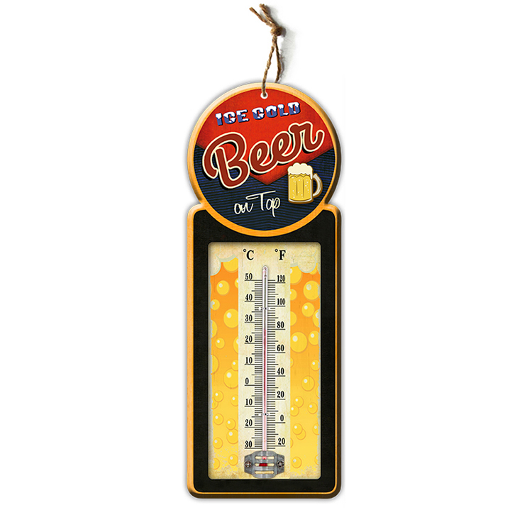 Different types new product indoor wall decorative thermometer