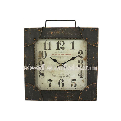 Customized Logo Interior Home Decoration Iron Novelty Clock