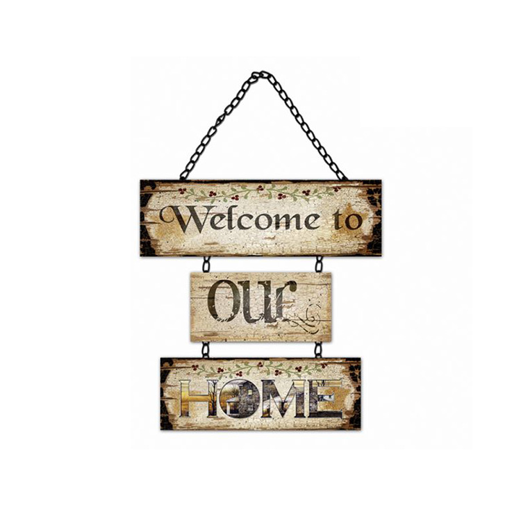 Polite Language Customized Size Handmade Wood Wall Art Sign Plaque, Decorative Wood Hello Sign