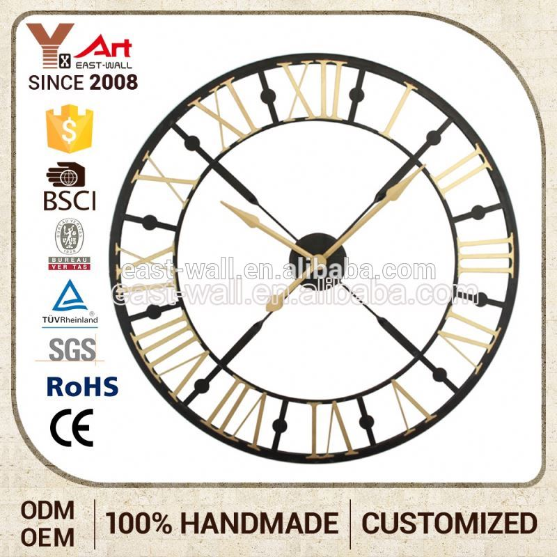 Competitive Price Embroidery Design Rustic 3D Wall Clock Sticker