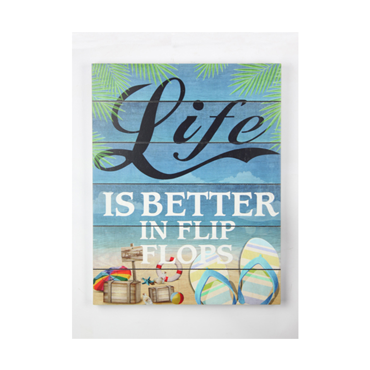 YC7032 Wooden Beach Hanging Board Modern Decor Vintage Wall Hanging