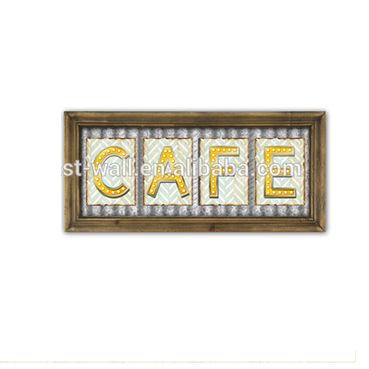 Old Signs Decoration Use Wall Hanging Coffee Plaque
