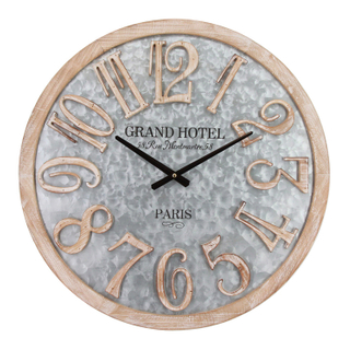 Customized Large Industrial Desktop Wall Clocks with Galvanized