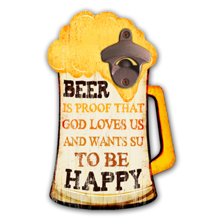 Cheap Price Customized Home Decoration Cute Metal Beer Bottle Opener