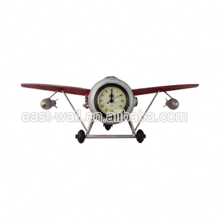 Cheap Price Customization Novelty Flight Shape Desk Analog Clock