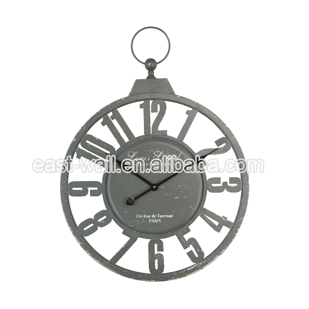 Get Your Own Design Vintage Style Industrial Furniture Wall Clock