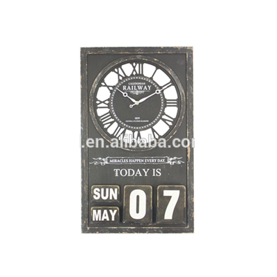 Direct Factory Price New Design Home Furniture Calendar Wall Clock Parts