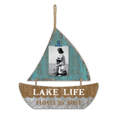 Personalized Sailboat Shape Borderless Wood Photo Frame Home Decoration Wall Hanging