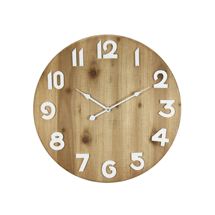 High Quality Decorative Wood Fashion Design Colorful Wooden Wall Clock