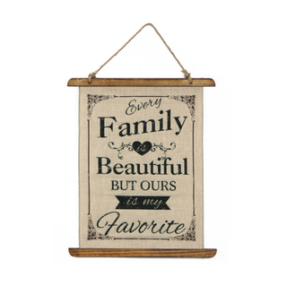 Hot Selling Export Quality Home Decor Letter Woven Wall Hanging Linen Sign