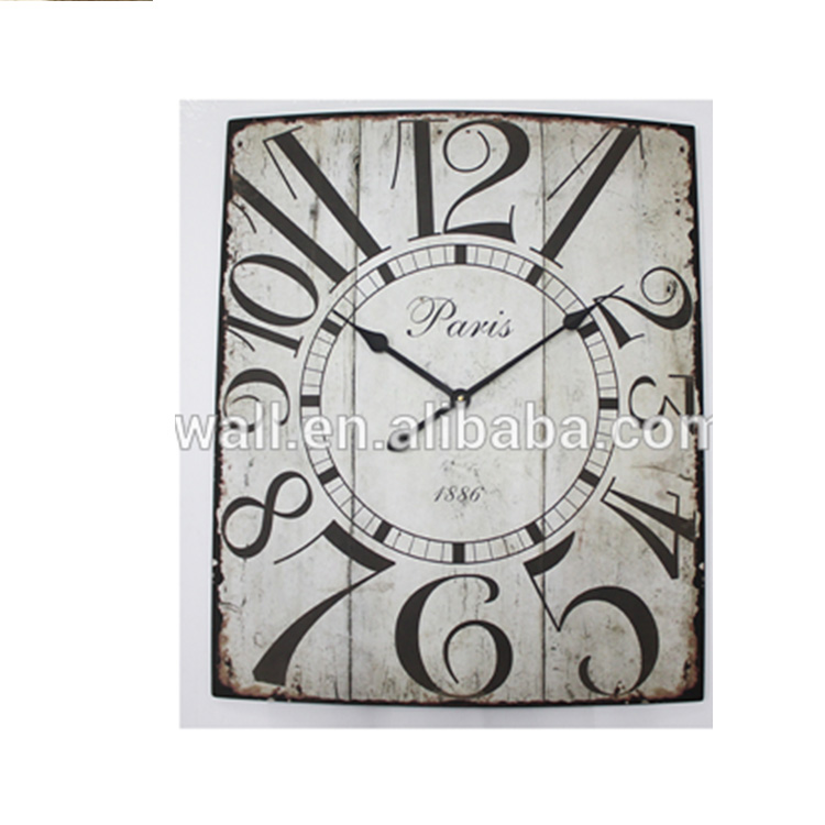 Hot Selling Home Decoration Large Black Wall Clock Low Cost New Style