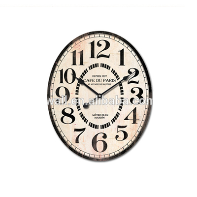 Decorative Clock Motors Battery Powered Vintage Style Oval Wall Clock