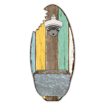 Customized Wall Mount Surf Bottle Beer Opener Bar