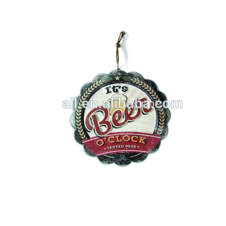 Craft Art Custom Images Decoration Of Handmade Wall Hanging Beer Sign
