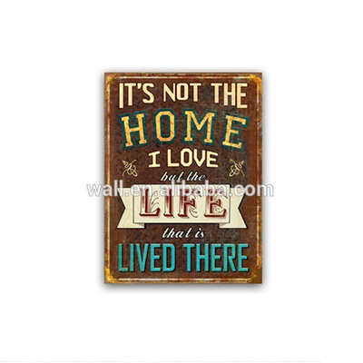 Xmas Gift Home Decoration Low Price Rustic Wall Plaque Hanging Letter Sign