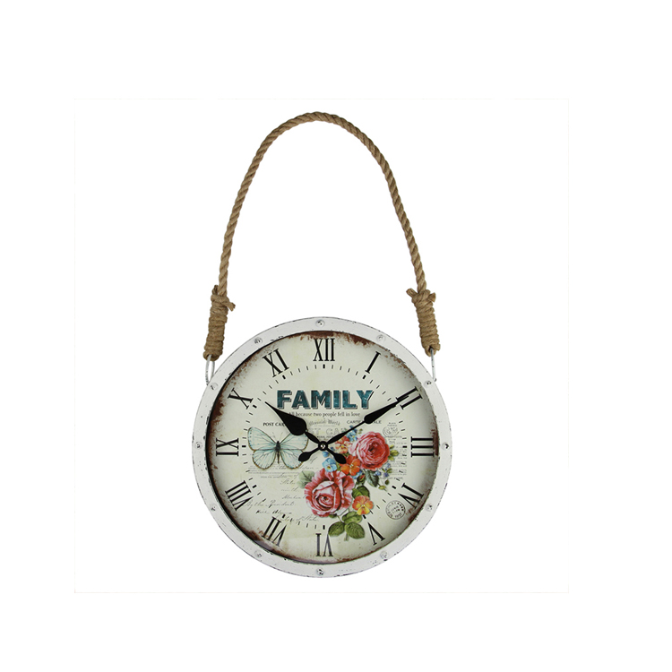 EA6117 Hot Popular Style Popular In Chinese Custom White Wall Clock