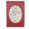 Vintage Home Decor Red Decorative Iron Wall Clock