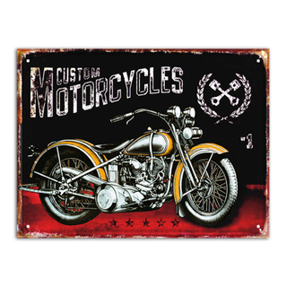 Wholesale Bar Decor Custom Design Tin Metal Wall Plaque