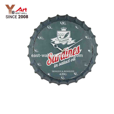 medium sized beer bottle cap indoor wall clock