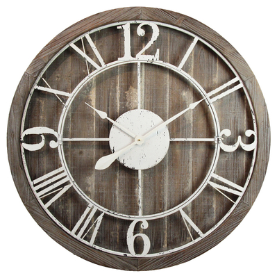 European retro home decoration antique simple design MDF gift wooden wall clock