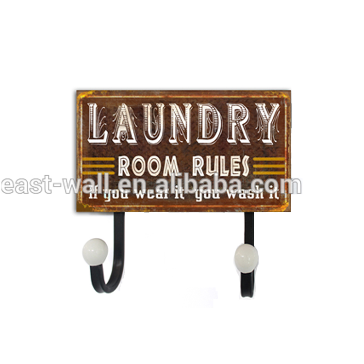 Craft Art Custom Design Vintage Style Baby Clothes Hanger Laundry Sign