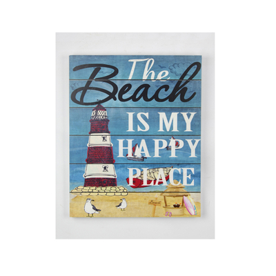 Factory Wholesale Innovative Private Custom Beach Blue Vintage Home Plaque