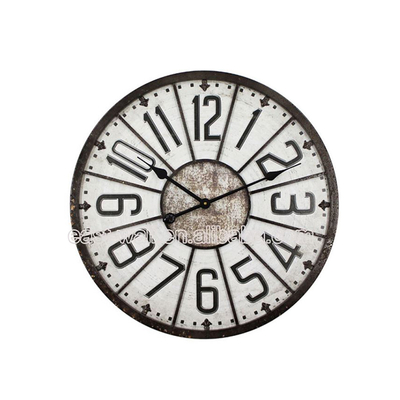 Cheap Craft Art Iron Rhythm Customized Wall Clocks