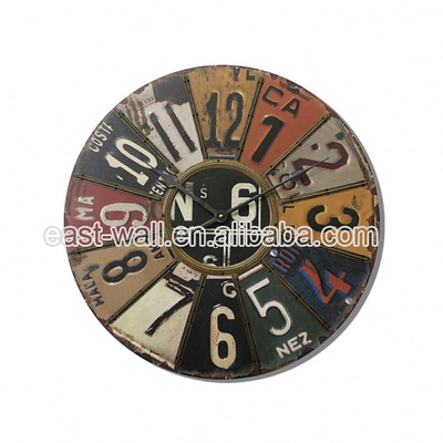 Oem Production Vintage Style Mdf Electric Wall Clock Big Size Clocks