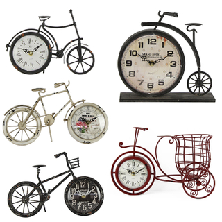 Hot Selling Custom Modern Iron Desktop Clock, Design Antique Table Alarm Clock
