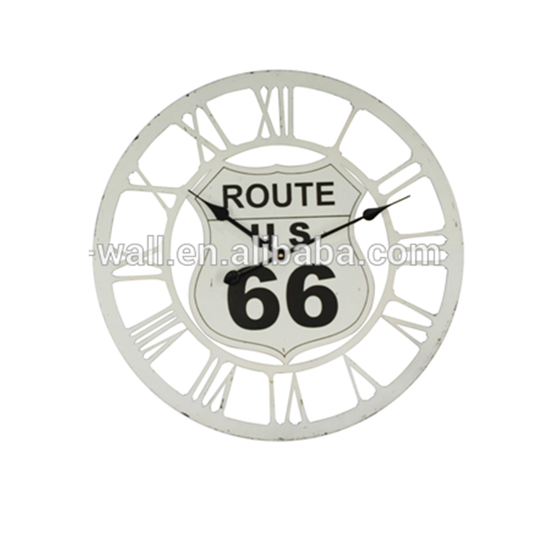 New Coming Custom Art Craft Wall Art Household Item Clock Route 66