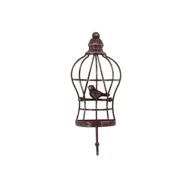New Style Decorative Bird Wrought Iron Wall Hanging Designs Hook