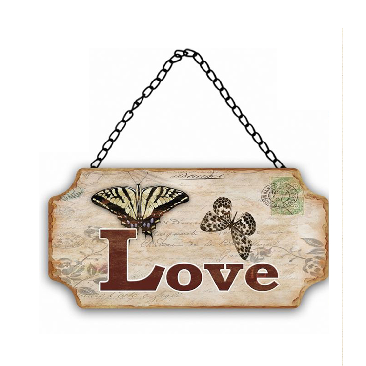 Promotional Customized Logo Printed Iron Craft Home Decor Wall Plaques