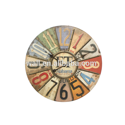 Household Decorative Articles Custom Printing Logo Iron Rod Wall Clock