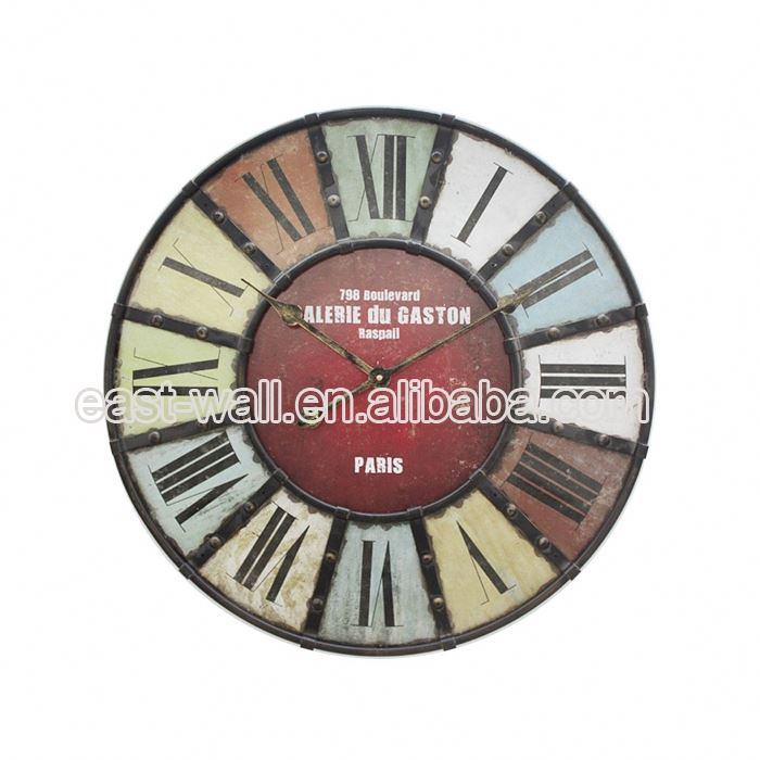 Humanized Design Manufacturers Iron Porcelain Wall Clock Country Clocks