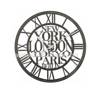 Hot New Products Lowest Price Customizable Iron Decorative Custom Wrought Iron Clock